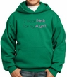 Breast Cancer Kids Hoodie – I Wear Pink For My Aunt Kelly Green Hoody