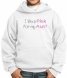 Breast Cancer Kids Hoodie – I Wear Pink For My Aunt Youth White Hoody