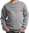 Breast Cancer Kids Sweatshirt I Wear Pink For My Aunt Grey Sweat Shirt