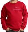 Breast Cancer Kids Sweatshirt - I Wear Pink For My Mommy Youth Red