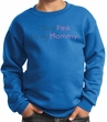 Breast Cancer Kids Sweatshirt - I Wear Pink For My Mommy Youth Royal