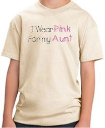 Breast Cancer Kids T-shirts - I Wear Pink For My Aunt