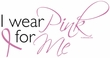 Breast Cancer Ladies Shirt Scoop Neck I Wear Pink For Me Pink