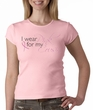 Breast Cancer Ladies T-shirt Crewneck I Wear Pink For My Cousin Pink