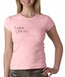 Breast Cancer Ladies T-shirt Crewneck - Pink For My Friend Pink Tee