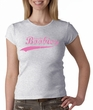 Breast Cancer Ladies T-shirt - Crewneck Save The Boobies Grey Tee