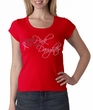 Breast Cancer Ladies T-shirt Scoop Neck Pink For My Daughter Red Shirt