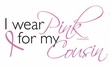 Breast Cancer Ladies T-shirt - V-neck I Wear Pink For My Cousin Yellow