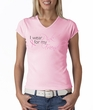 Breast Cancer Ladies T-shirt V-neck I Wear Pink For My Friend Pink Tee