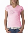 Breast Cancer Ladies T-shirt V-neck I Wear Pink For My Mommy Pink Tee