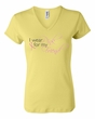 Breast Cancer Ladies T-shirt V-neck Wear Pink For My Friend Yellow Tee