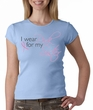 Breast Cancer Ladies T-shirt Wear Pink For My Sister Baby Blue