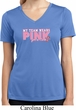 Breast Cancer My Team Wears Pink Ladies Moisture Wicking V-neck Shirt
