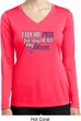 Breast Cancer Pink for My Hero Ladies Dry Wicking Long Sleeve Shirt