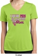 Breast Cancer Pink for My Hero Ladies Moisture Wicking V-neck Shirt