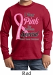 Breast Cancer Pink For Someone Special Kids Long Sleeve Shirt