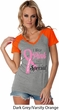 Breast Cancer Pink For Someone Special Ladies Contrast V-Neck Shirt
