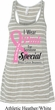 Breast Cancer Pink For Someone Special Ladies Flowy Racerback Tanktop