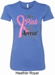 Breast Cancer Pink For Someone Special Ladies Longer Length Shirt
