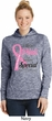 Breast Cancer Pink For Someone Special Ladies Moisture Wicking Hoodie
