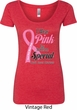 Breast Cancer Pink For Someone Special Ladies Scoop Neck Shirt
