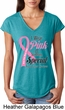 Breast Cancer Pink For Someone Special Ladies Tri Blend V-Neck Shirt