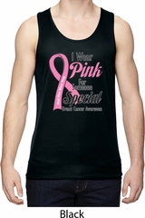 Breast Cancer Pink For Someone Special Mens Moisture Wicking Tanktop