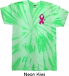 Breast Cancer Pink Ribbon Pin Pocket Print Twist Tie Dye Shirt