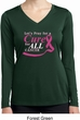 Breast Cancer Pray for a Cure Ladies Dry Wicking Long Sleeve Shirt