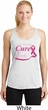Breast Cancer Pray for a Cure Ladies Dry Wicking Racerback Tank Top