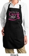 Breast Cancer Pray for a Cure Ladies Full Length Apron with Pockets