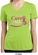 Breast Cancer Pray for a Cure Ladies Moisture Wicking V-neck Shirt