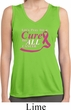Breast Cancer Pray for a Cure Ladies Sleeveless Moisture Wicking Shirt