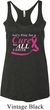 Breast Cancer Pray for a Cure Ladies Tri Blend Racerback Tank Top