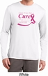 Breast Cancer Pray for a Cure Mens Dry Wicking Long Sleeve Shirt