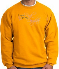 Breast Cancer Sweatshirt I Wear Pink For My Daughter Gold Sweat Shirt