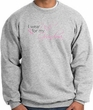 Breast Cancer Sweatshirt I Wear Pink For My Grandma Athletic Heather