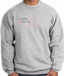 Breast Cancer Sweatshirt - Ribbon Pink For My Friend Grey Sweat Shirt