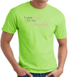 Breast Cancer T-shirt I Wear Pink For My Grandma Lime Tee