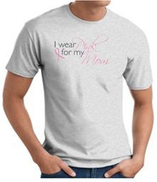 Breast Cancer T-shirt I Wear Pink For My Mom Ash Tee