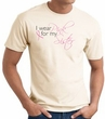 Breast Cancer T-shirt I Wear Pink For My Sister Natural Tee Shirt