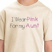 Breast Cancer T-shirts - I Wear Pink For My Aunt