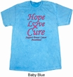 Breast Cancer Tee Hope Love Cure Mineral Tie Dye T-shirt