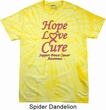 Breast Cancer Tee Hope Love Cure Tie Dye T-shirt