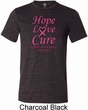 Breast Cancer Tee Hope Love Cure Tri Blend Tee