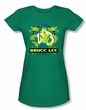 Bruce Lee Juniors T-shirt Double Dragons Kelly Green