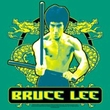 Bruce Lee Kids T-shirt Youth Double Dragons Kelly Green