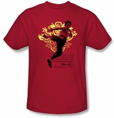 Bruce Lee Kids T-shirt Youth Immortal Dragon Red