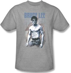Bruce Lee Kids T-shirt Youth Jeans Heather Gray Tee