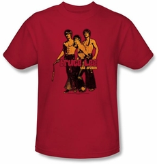 Bruce Lee Kids T-shirt Youth Nunchucks Red